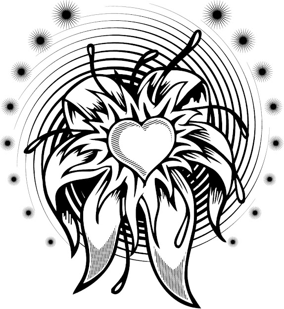 Cool Plexs Design Coloring Pages  Coloring Page Of Flower Heart  Tattoo With Spiral