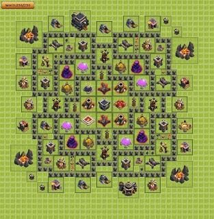 Base Clash of Clans Terbaik TH 9 Farming