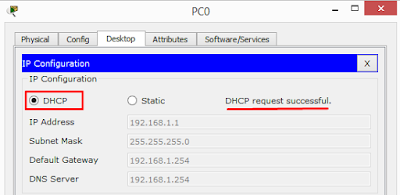Konfigurasi DHCP Client