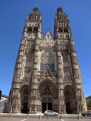 The facade of the cathedral at Tours