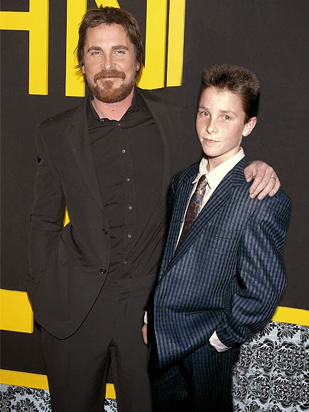 Christian Bale in 2013 (left) and in 1987