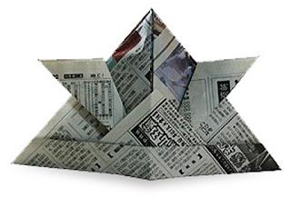 topi samurai 1 cara membuat dari kertas koran