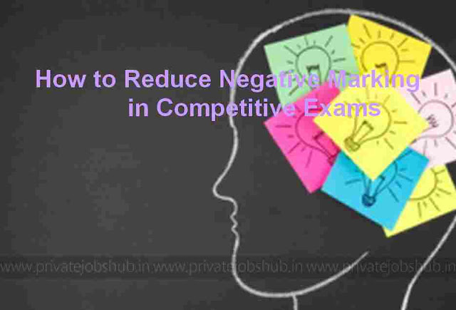 How to Reduce Negative Marking in Competitive Exams