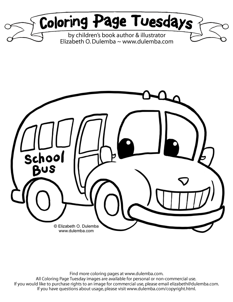 Wheels bus coloring pages ~ The Wheels On The Bus Coloring Page