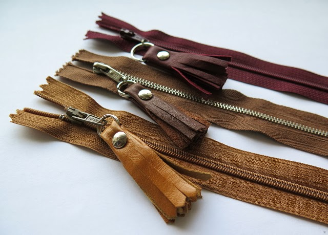 she can quilt: Vera's Leather zipper pulls - a 2013 FAL ...