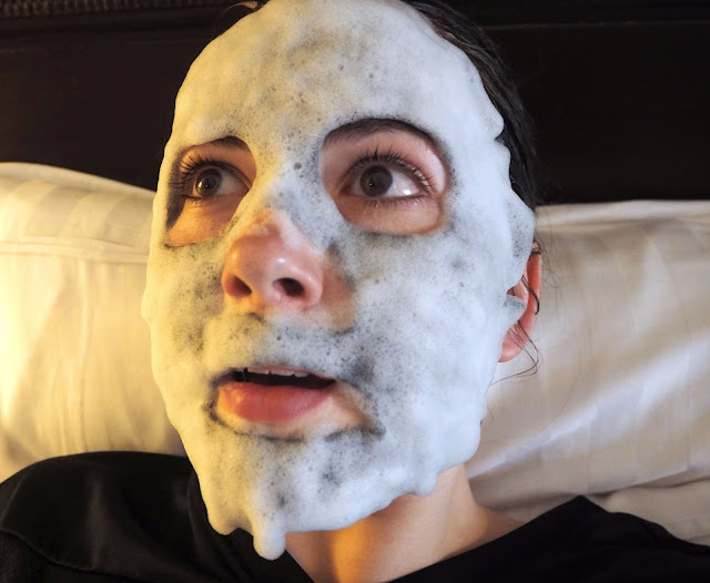 Bubble Face Mask on skin