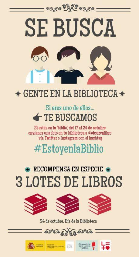 """""""Se busca gente en la Biblioteca"""" """"Estoy en la Biblio"""""""