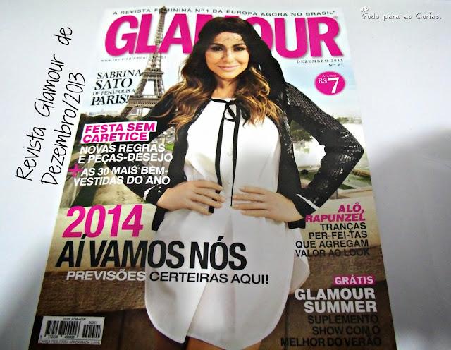 Revista Glamour de Dezembro/2013.