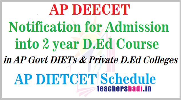AP DEECET Notification,Schedule,online application form