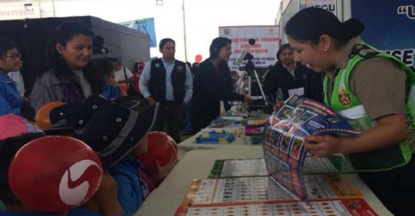 Escolares de Arequipa participan en Feria de Seguridad Vial