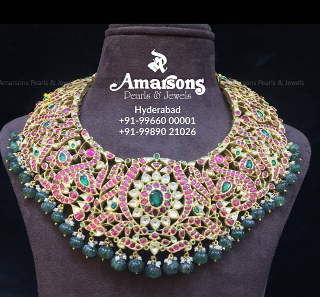 Emerald Drops Kundan Sets by Amarsons Jewels