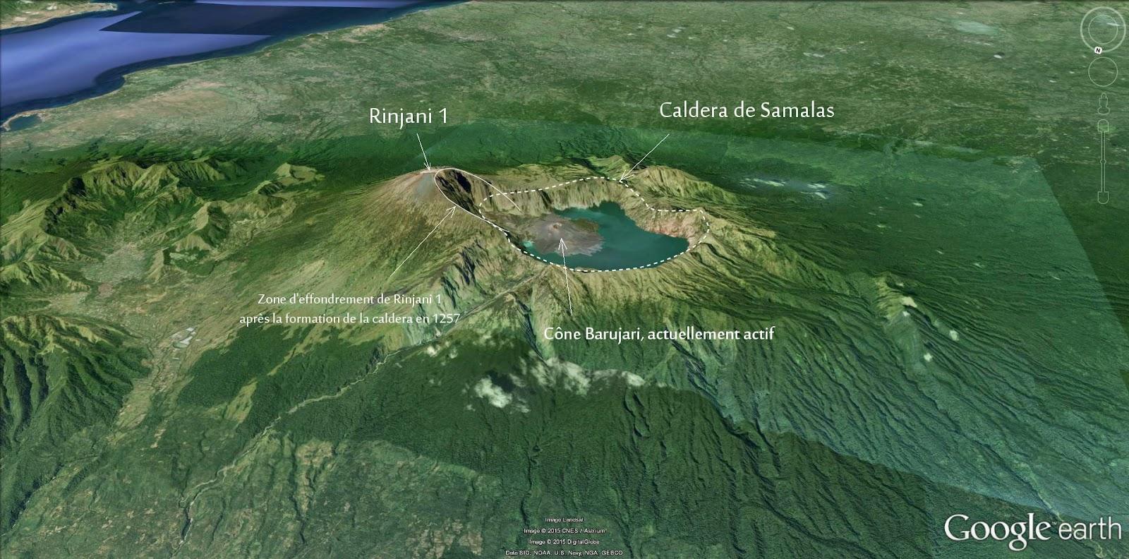 Volcan Rinjani et la caldera de Samalas