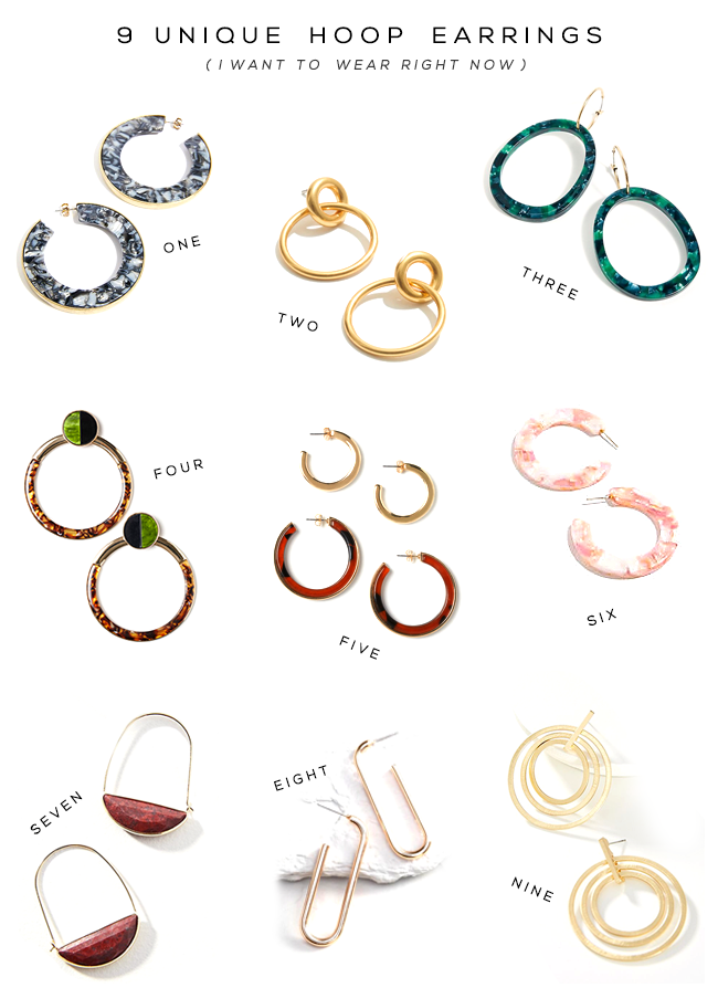 9 Unique Hoop Earrings