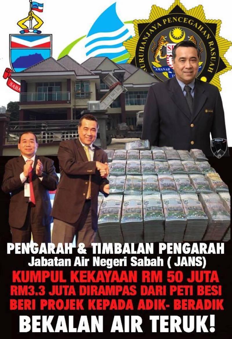 Siapa Sebenarnya Pengarah Jabatan Air Negeri Sabah Rasuah RM112 Juta