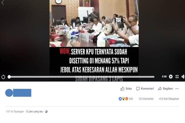 Viral Video yang Tuding Jokowi Disiapkan Menang 57 Persen, Ini Kata KPU