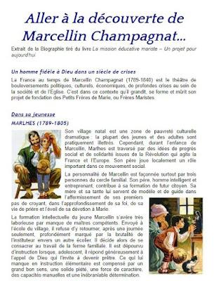 TEXTE ILLUSTRÉ : À LA DÉCOUVERTE DE MARCELLIN CHAMPAGNAT