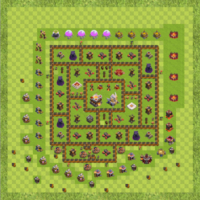 War Base Town Hall Level 11 By Vojta666 (My base TH 11 Layout)