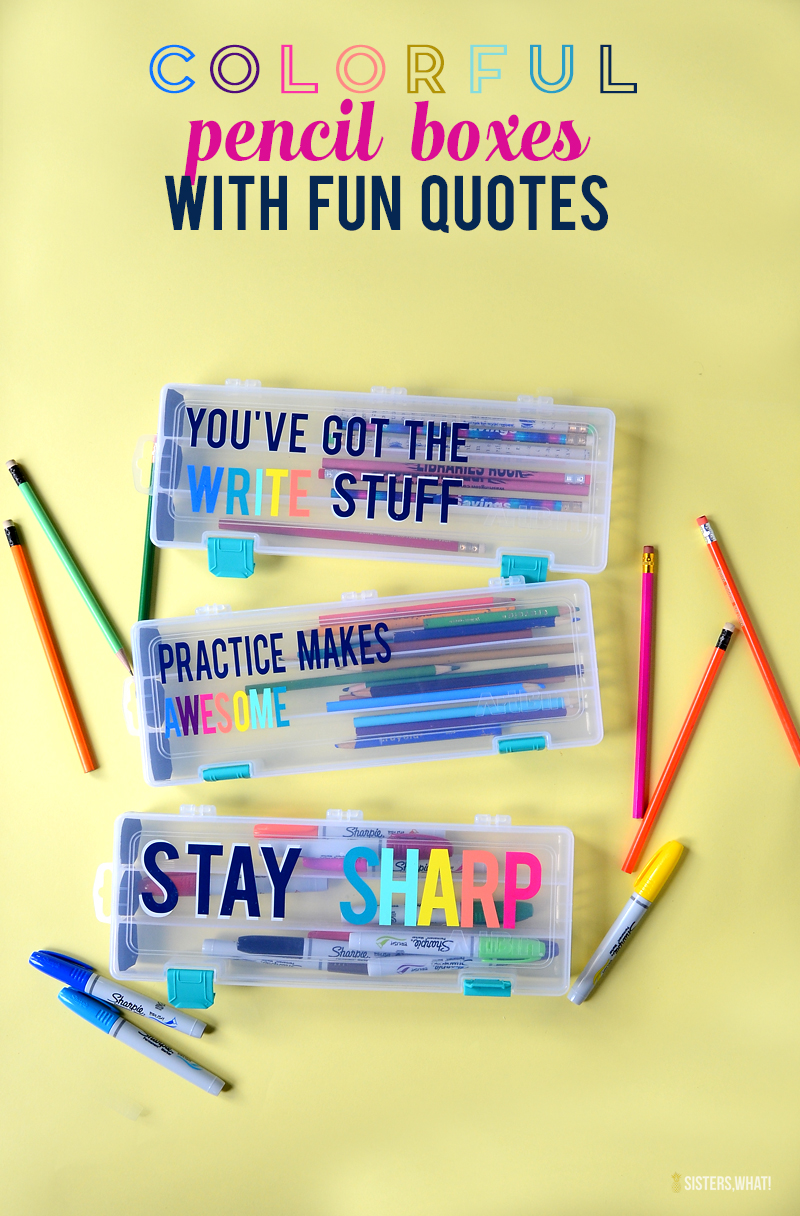 colorful pencil box fun quotes