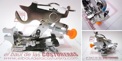 Prensatelas para hacer frunces y pliegues para máquinas de coser caseras