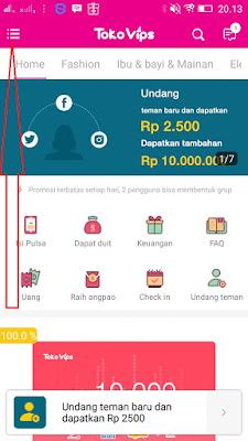 Cara daftar di Apk Android TokoVips