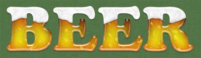 Beer Text (St. Patrick's Day) – Photoshop Tutorial @ Webdesignerpad