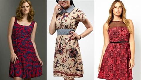 model baju batik dress orang gemuk terbaru