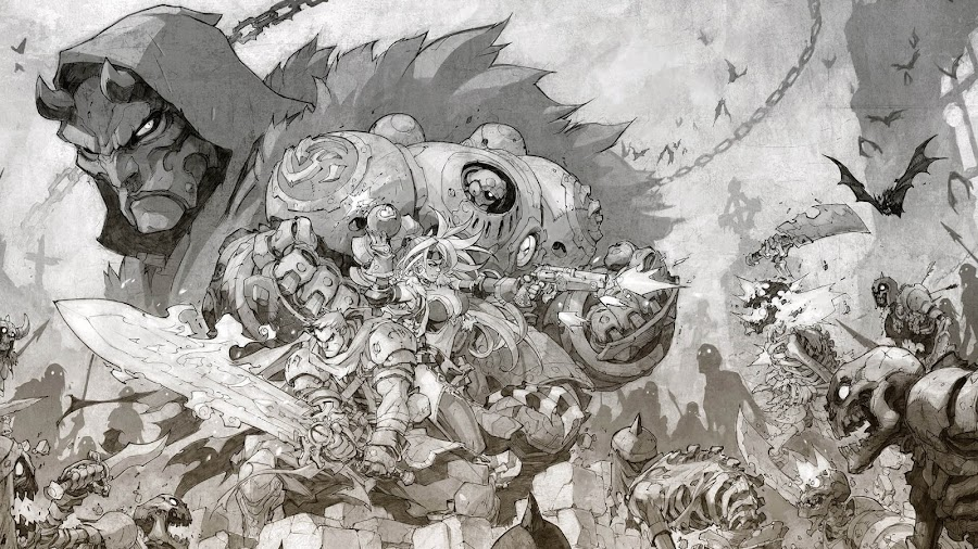 battle chasers nightwar concept art