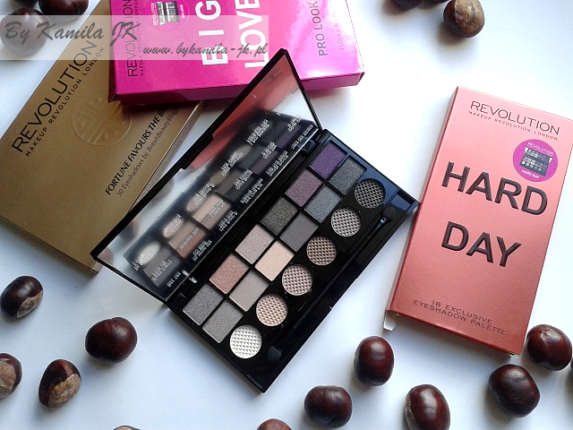 Makeup Revolution paleta cieni Hard Day
