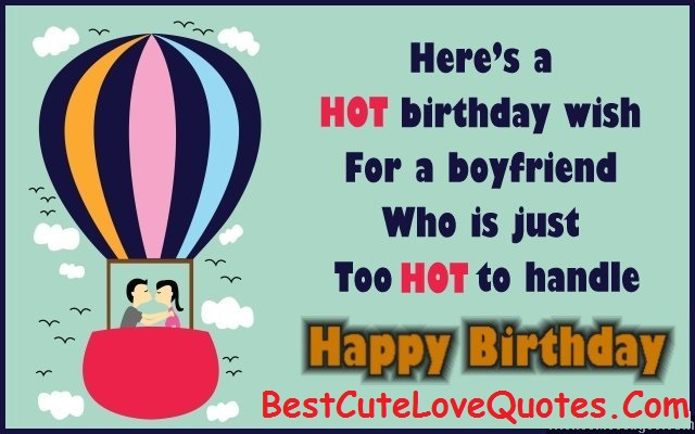 Birthday Messages Quotes for Boyfriend