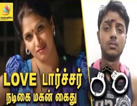 Actress Bhuvaneswari son arrested