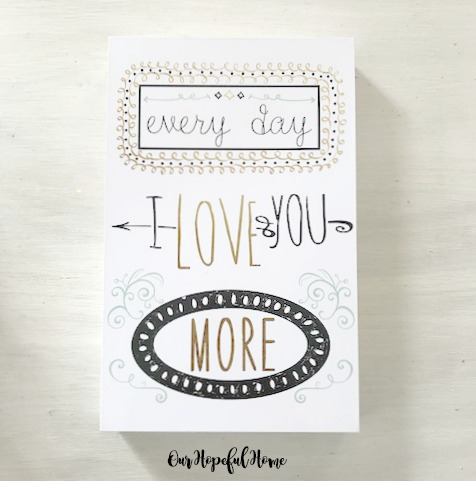 I love you more every day box wall art Dollar Tree