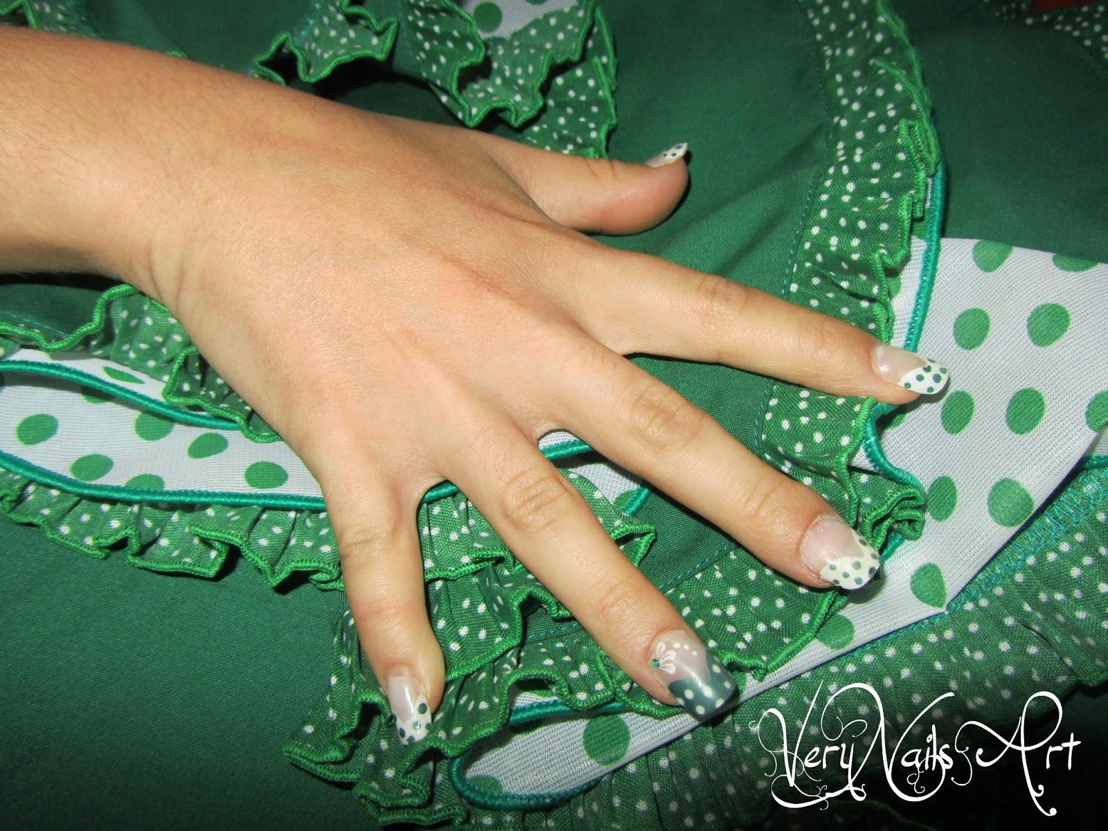 Decoración de uñas estilo flamenco   VeryNailsArt   Blog de uñas ...