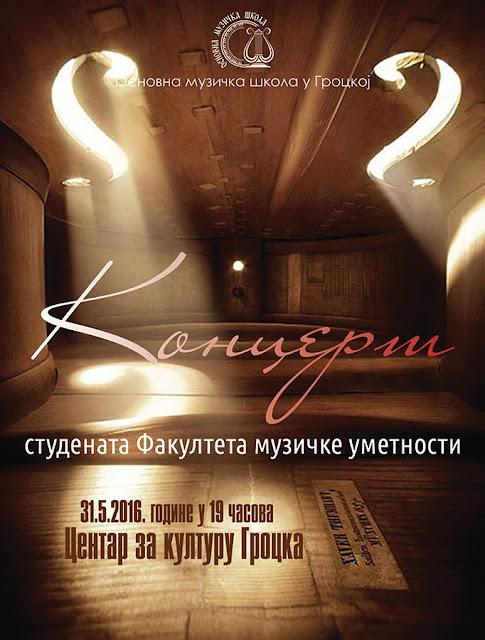 Koncert studenata Fakulteta muzičke umetnosti