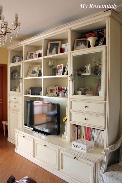 My roseinitaly living room for Arredo parete salotto