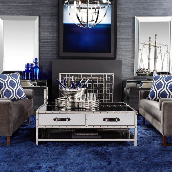 Lush fab glam blogazine modern home decor trends shades for Glam modern living room