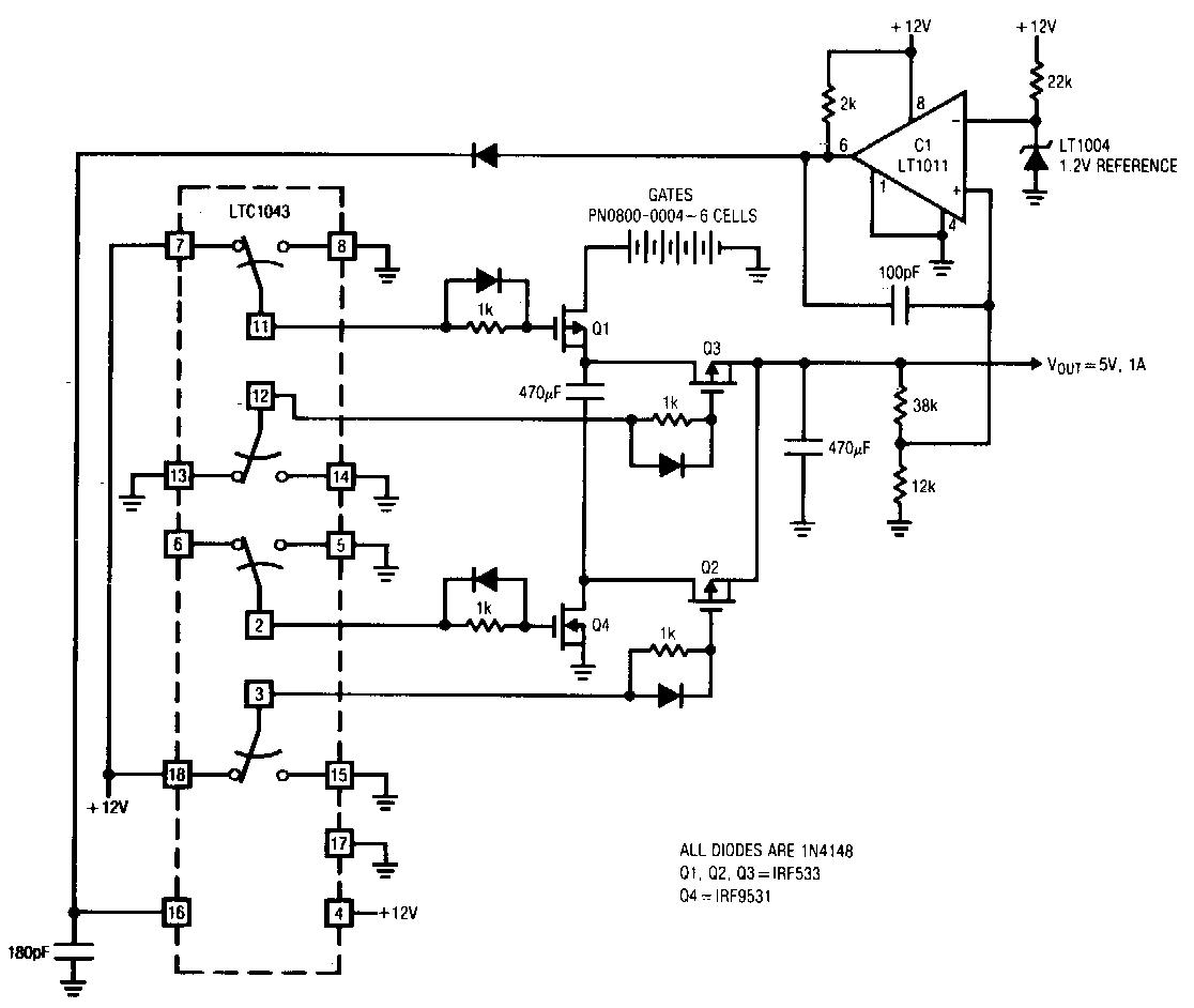 Simple Switching Regulator Circuit Diagram | Electronic Circuit Diagrams & Schematics