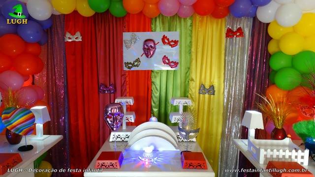 Decoração festa de aniversário Carnaval