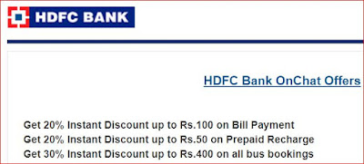 HDFC OnChat – Get Rs.50Refer , Redeem 100% Points