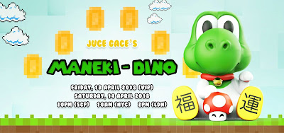Maneki-Dino Super Mario Bros Vinyl Figure by Juce Gace x Mighty Jaxx