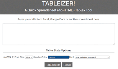 Tableize It