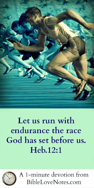 Hebrews 12:1, Running the Race, training for the Lord