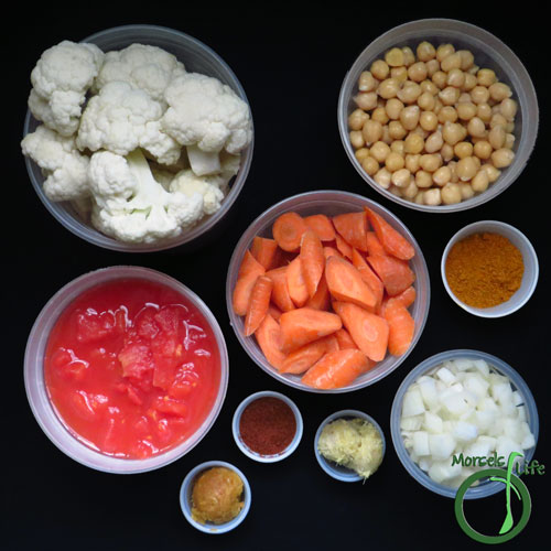 Morsels of Life - Cauliflower Carrot Curry Step 1 - Gather all materials.