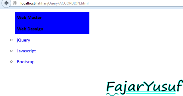 jQuery : Accordion