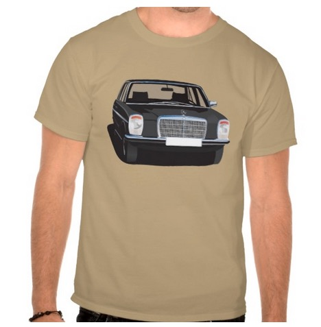 Mercedes-Benz w114 w115 black t-shirt