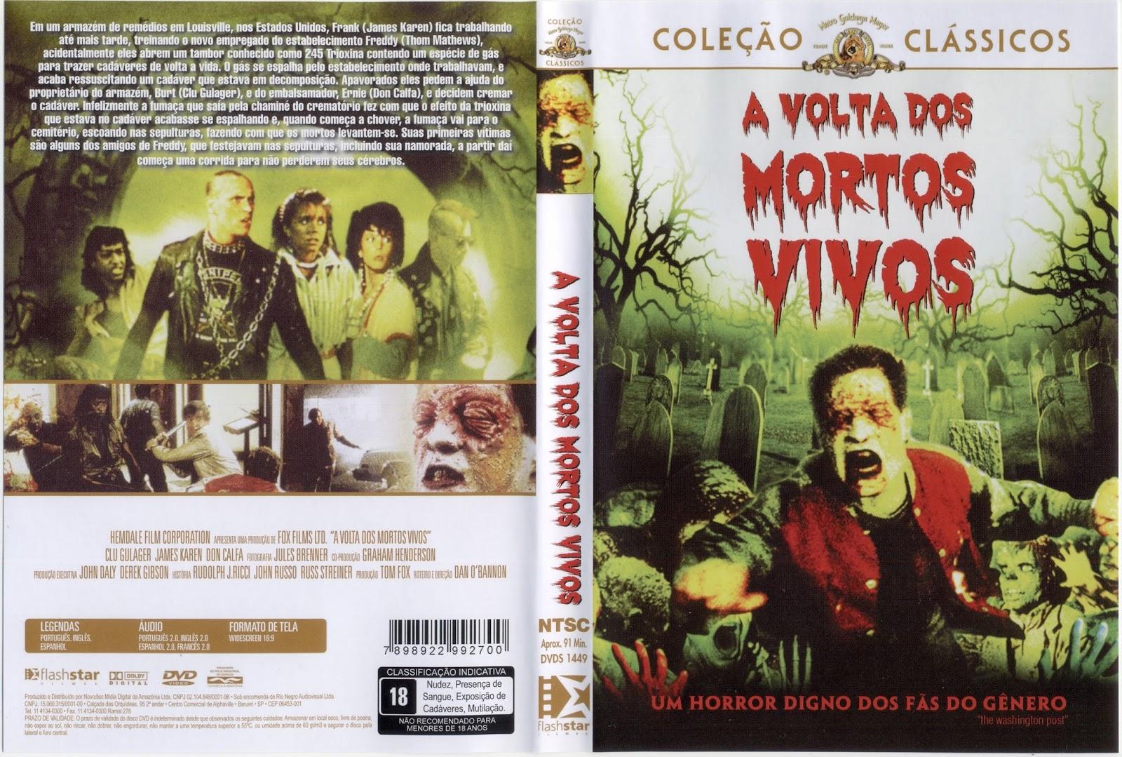 Coleção Completa A Volta dos Mortos Vivos DVDRip XviD Dublado