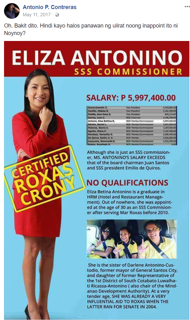 Another yellow scandal: Noynoy appointed unqualified SSS Commissioner who earned millions