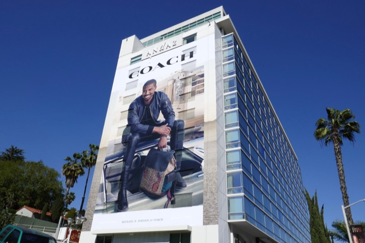 Michael B Jordan Coach fashion billboard