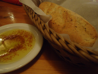 complimentary bread at Carinos