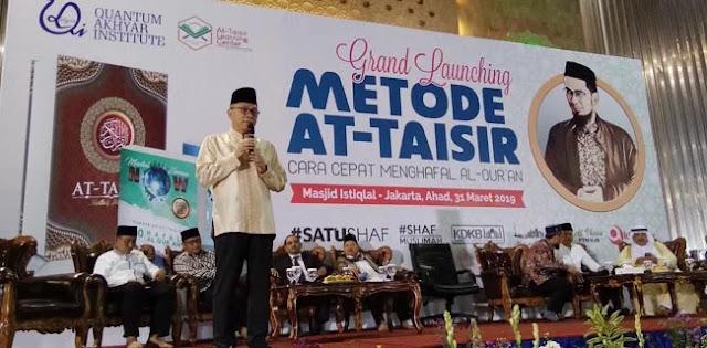Launching Metode Hapal Alquran Di Istiqlal, Zulhas Ajak Doakan AHY Jadi Next Pemimpin