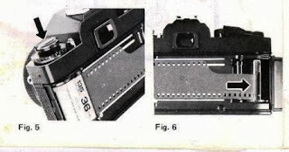 cara memasang film ke kamera